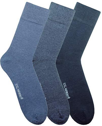 ch-home-design Herren Socken Übergröße XL- XXL Strumpf ''3 Paar'' Jeans (47/50)-(50/52) RS-1042 (XXL (50/52))