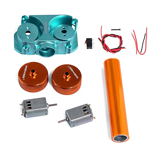 Foxom Worker Flywheel Upgrade Kits Set für Nerf Stryfe Rapidstrike CS-18 Blaster, Inklusive Flywheel Cage, Flywheels, Motor, Draht und Schraube, Orange
