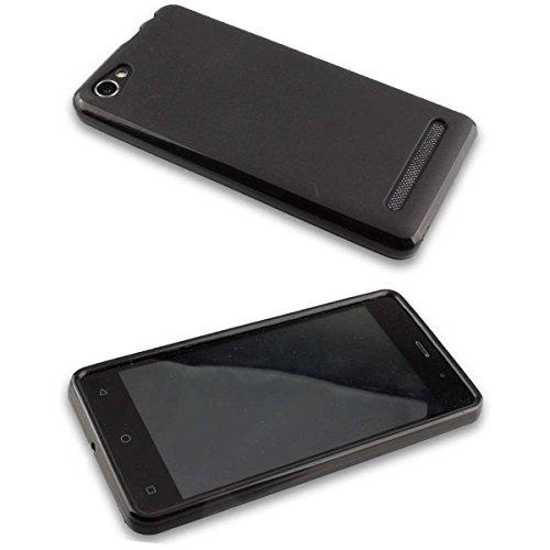caseroxx TPU-Hülle & Bildschirmschutzfolie für Archos 45b Neon, Set (TPU-Hülle in schwarz)
