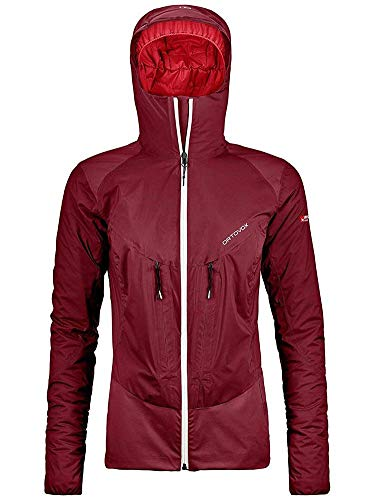 Ortovox Dames 2l Swisswool Leone Jacket W vest, rood (Dark Blood), S