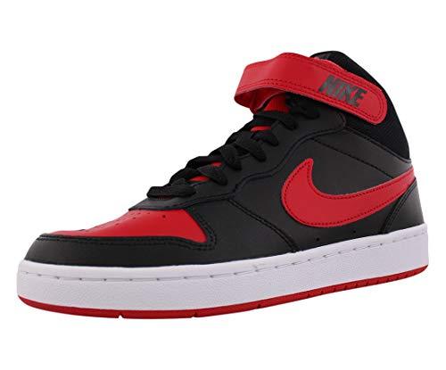 Nike Court Borough Mid 2 (GS), Scarpe da Basket, Black/Univ Red-White, 38 EU