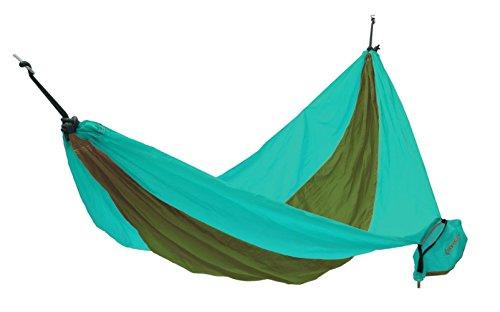KingCamp - Hamac de Jardin Parachute - 270 * 130cm - Charge Max. 100 kg - Coloris Vert/Cyan