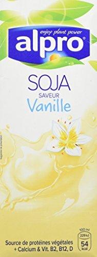 4x Alpro - Soya Drink Vanille - 1000ml