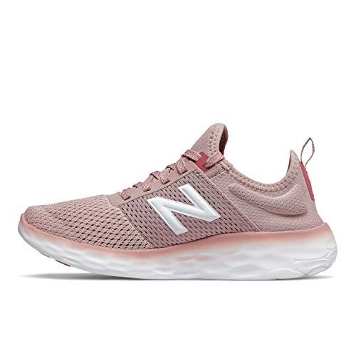 New Balance Women's Fresh Foam Sport V2 Running Shoe, Smoked Salt/Reflection/Sea Salt, 8.5
