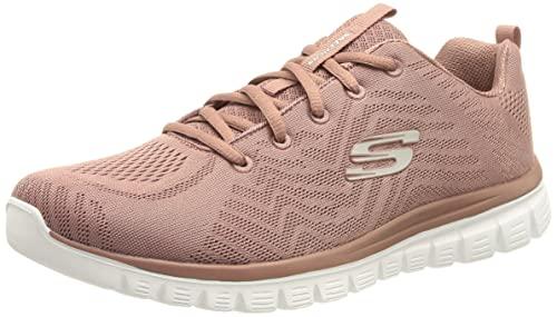 Skechers Graceful Get Connected, Zapatillas Mujer, Pink, 36.5 EU