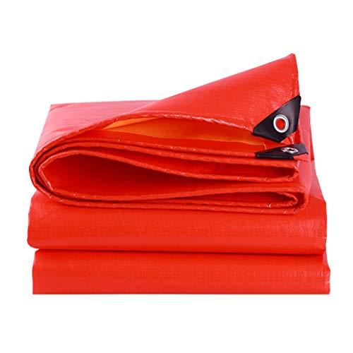 YX-Bâche Polyéthylène tissé Haute densité et Double stratifié de bâche imperméable Polyvalente - Couvertures de bâche de Protection Orange pour Pare-Soleil Orange - Épaisseur 0.38mm, 210g / m²
