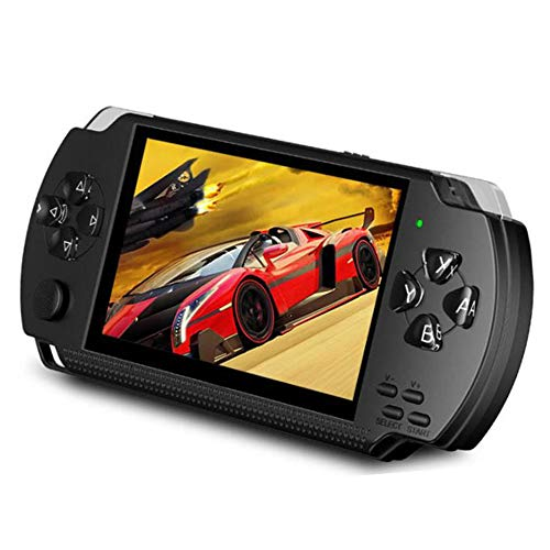 LKTINA Handheld Portable Game Console, 8GB 4.3'' 1000 LCD Screen MP3 MP4 MP5 Player with Camera Built in 1000+ Classic Video Games, for gba/gbc/SFC/fc/SMD Games, Best Gift for Kids and Adults -Black