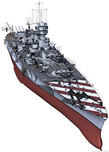 DFGER Battleship Puzzle Plastic Model Kit, 1/700 Scala Navy Italiana Vittorio Veneto Classe Battleship 1940 Giocattoli Modello, 13,4 x 1.9inch
