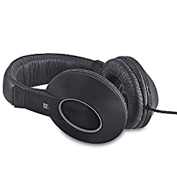 iBall EarWear Rock, Pitch Perfect Sound, Over-Ear Wired Headphones with Mic, Black & Grey,iBall,Earware Rock