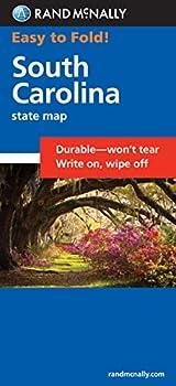 Rand McNally Easy To Fold  South Carolina  Laminated Fold Map   Easyfinder Maps
