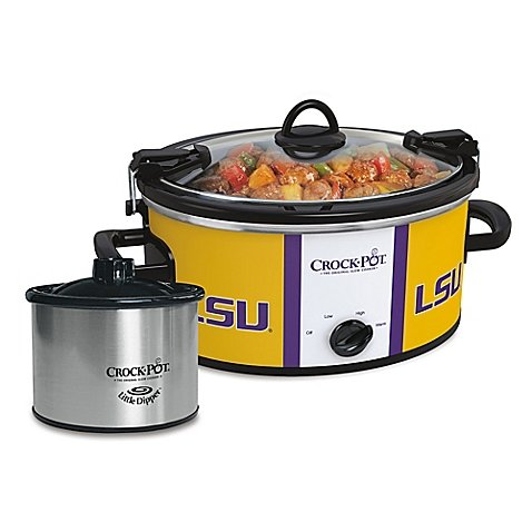 LSU Slow Cooker with Little Dipper Warmer