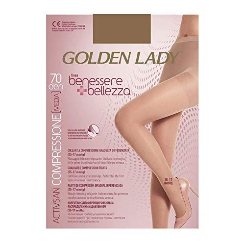 Golden Lady Benessere & Bellezza Collant 70 Den Dore Taglia Xl G115 Calze Da Donna, 300 Grammi