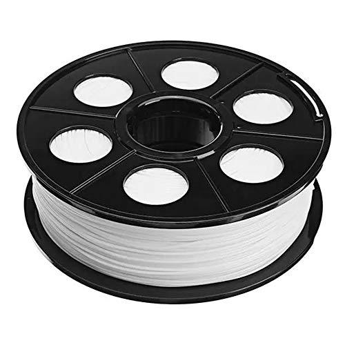 MICEROSHE Filament d'imprimante 3D Pro 1.75mm 1KG TPU Flexible en Caoutchouc Souple Filament for imprimante 3D (Couleur : Blanc, Taille : 1.75mm)