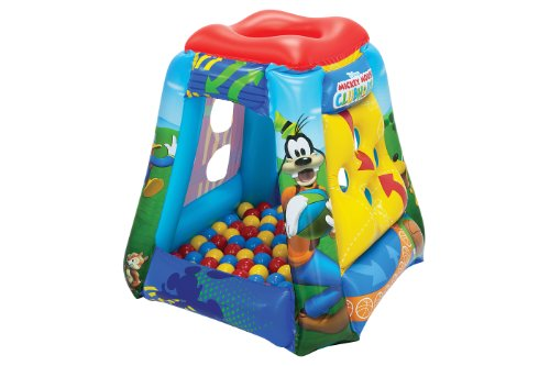 Mickey Mouse Club House Having a Ball, 1 Inflatable & 20 Sof-Flex Balls,...