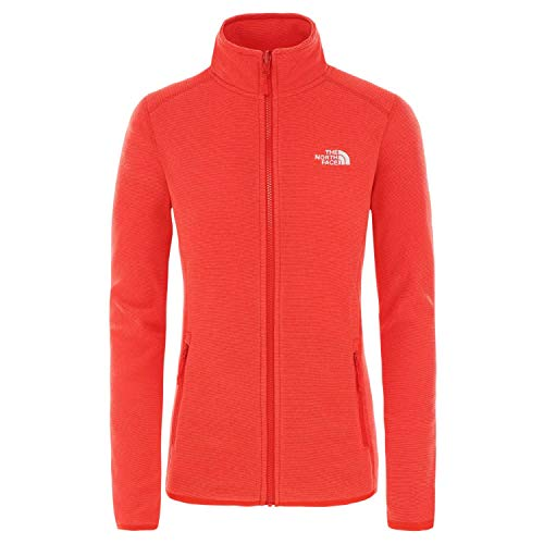 The North Face, W 100 Glacier FZ, Damen-Jacke XL Rosso Peperoncino