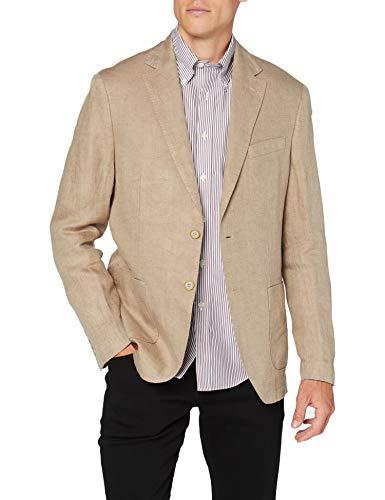 Cortefiel C7Bck Americana Lino Delave Chaqueta, Beige (Beige/Camel 52), Medium (Tamaño del Fabricante: 50) para Hombre