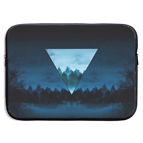 Funda Impermeable para portátil de 15 Pulgadas, maletín de Negocios con Bosque Nocturno Abstracto, Bolsa Protectora, Funda para Ordenador BAG-6143