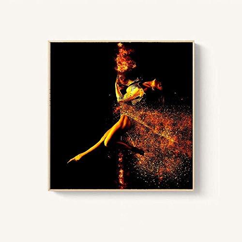 N / A Moderne Figur Malerei Beauty Dancer Leinwand Malerei Leinwand Wandbild Wohnzimmer Home Decoration Bilder Rahmenlos 40X60 cm