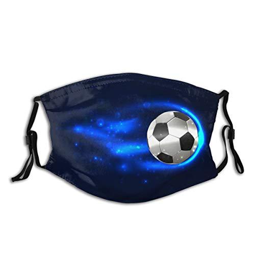 Na Soccer Ball On Fire Multifunktionales Tuch waschbar, halbes Bandana, weiches Mundtuch, atmungsaktiver Mundschutz, staubdicht für den Außenbereich