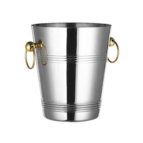 LXJ Cubo De Hielo De Acero Inoxidable 5L Y Pinzas De Hielo, Cubo De Hielo, Fiestas Familiares BBQS Parties Rose Tremla Champagne Bucket(Size:5L,Color:A)