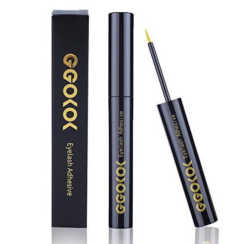 GGOKOK Wimpernkleber strip Lash glue 5ml, Wimpern kleber für lashes, Latex eyelash glue, Adhesive White Lashes Glue Schnelle Trockenzeit 5ml