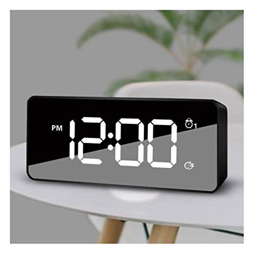 Reloj digital para niños, Reloj despertador multifuncional recargable Reloj inteligente controlado por voz Reloj de cabecera silencioso para estudiantes Reloj electrónico de dormitorio en casa Rel