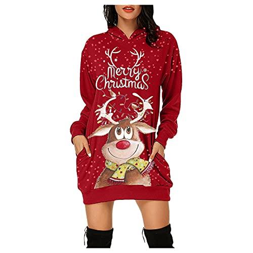 Briskorry Damen Weihnachten Kleid,...