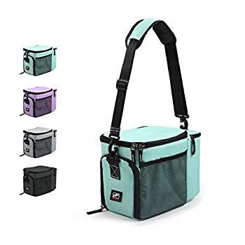 RitFit Insulated Lunch Box- Large Capacity Meal Prep Bag for Work School or Road Trips Suitable for Adults and Kids- Come with Adjustable Strap Ice Packs and Containers  Tiffany Blue