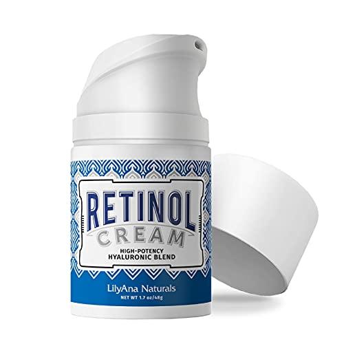 LilyAna Naturals Retinol Cream for Face - Retinol Cream, Anti Aging Cream, Retinol Moisturizer for Face, Wrinkle Cream for Face, Retinol Complex - 1.7oz