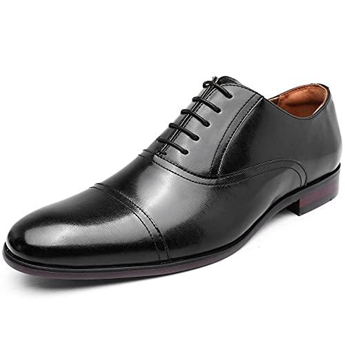 [フォクスセンス] ビジネスシューズ 軽量・撥水 革靴 紳士靴 メンズ 本革 ストレートチップ 内羽根 ブラック 26.5cm P507-11