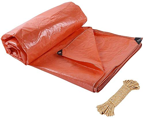 YUEDAI Tarpaulin Tarp With Eyelets Ground Sheet Covers Awning Tent Cloth Plastic Thicken PE Waterproof Heavy Duty Reinforced Rainproof Sun Shade Outdoor, Multi Sizes, 180G/M²