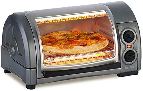 Beesuya Desktop Multi-Function Electric Oven Oven Small Household Multifunctional Baking Machine Cake Bread Pizza Tart Oven 12L Capacity Easy to Clean Kitchen Cooking Gray.