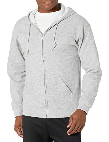 Gildan Men's Fleece Zip Hooded Sweatshirt, Sport Grey, 3X-Large