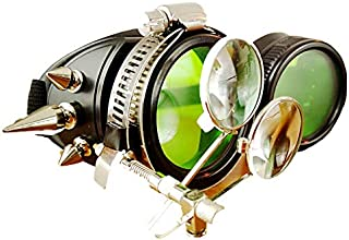 Steampunk Industrial Vintage Goggles Windshield, Victorian Goggles, Halloween Role-Playing Party Accessories