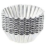 Lovejoy Store 10 Stück 7 cm wiederverwendbare Eier-Formen aus Aluminium in Blumenform Muffin...