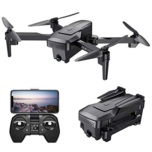 Teeggi VISUO XS818 GPS Drone with Camera for Adults 4K HD FPV,RC Quadcotper for Beginners, 5G WiFi Live Video 120° Wide Angle,Gesture Control,Auto Return, Follow Me, Foldable Drones with Carrying Case