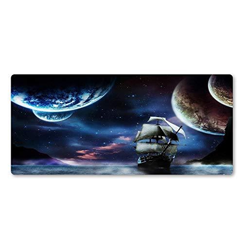 YWSZY-Mouse Pad Cool Sea Boat Muster Mauspad Hd Wallpaper Mauspad Laptop Gaming Mauspad Naturkautschuk Matte @ 1000X500X2Mm