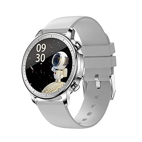 DADAS Smart Watch Men's y Women's Watch 1.28 Pulgadas Pantalla táctil Watch Smart Watch Monitor de frecuencia cardíaca, rastreador de Actividades del podómetro,Plata