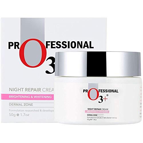 O3+ Night Repair Face Cream Brightening & Whitening Anti-Ageing for Restoring Elasticity, Firmness, Moisture & Reducing Uneven Skin Tone, 50g