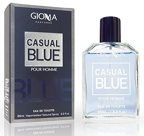 Casual Blue Eau de Toilette Intenso 95 ml, Perfumes Imitaciones Hombre. Equivalente Compatible con Bleu de Chan. Hombre