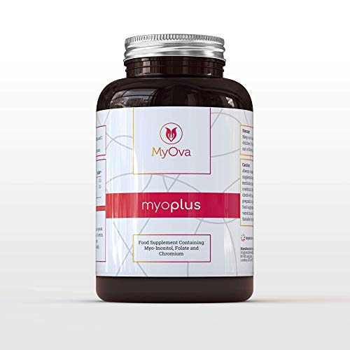MyOva myoplus - All Natural Female Support Supplement - for PCOS - 4000mg Myo-Inositol, 200ug Folate & 100ug Chromium - 120 Tablets - Helping Women Balance Their Bodies Naturally - Made in The UK