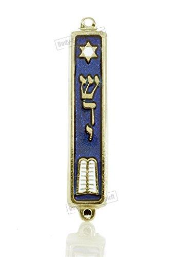 Preisvergleich Produktbild Mezuza Mezuza Schmuckkästchen,  7 cm,  Judaica Judäischer Turah Shaddi Island,  vergoldet