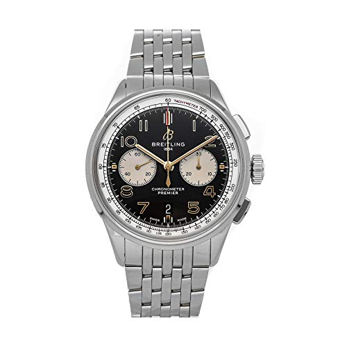 Breitling Premier Automatic Black Dial Watch AB0118A21B1A1 (Pre-Owned)