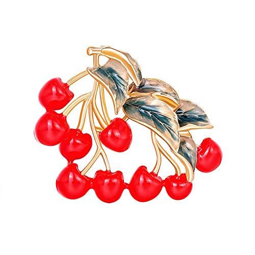 Ynnixa 1 Stuk Vrouwen Broches Mode Rode Bloem Broche Decoratieve Pin Elegante Lady Craft Ornament voor Hoofdbanden Sjaals Hoofdbanden Jurken