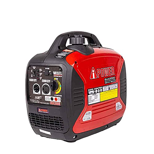 JEGS Performance Products 81963 Inverter Generator 1600W Surge Watts 2000W Rated