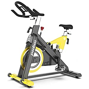 Belt Drive High Weight Capacity Commercial Indoor Cycling Bike(Blue&Yellow)
