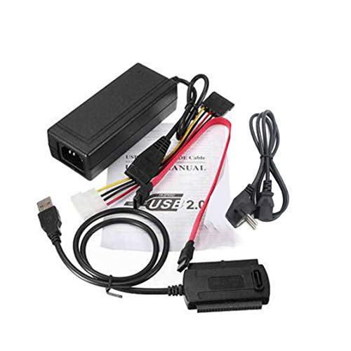 Candybarbar Adaptador SATA / Pata / IDE a USB 2.0 Cable convertidor de Adaptador para Disco Duro Disco Duro HDD 2.5