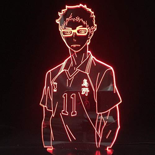Haikyuu Kozume Tanaka Bokuto Hinata 3D LED Illusion Nachtlichter Anime Lampe Haikyuu LED Beleuchtung für Schlafzimmer Dekor
