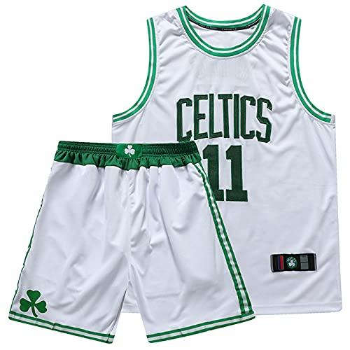 YXST Basketball Trikot 11# NBA Swingman Jersey,Top & Shorts Basketball Sommer Trikots Basketballuniform,Weiche Textur,Schnell Trocknend Und Atmungsaktiv,White,XL