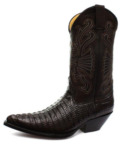 Grinders Carolina Herren Western Cowboy Stiefel, Braun, Größe 43